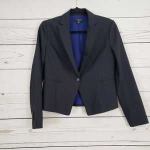 Ann Taylor Career Jacket in Navy Blue